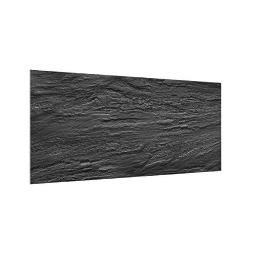 Bilderwelten Spritzschutz Glas - Schiefer - Querformat 1:2, HxB: 59cm x 120cm
