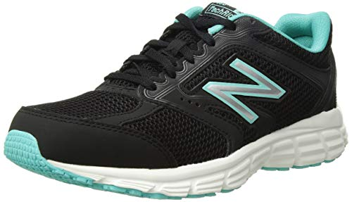 New Balance 460 V2 Zapatillas de correr para mujer, negro/Tidepool ligero, 9 W US