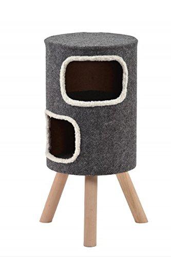 animal-design Wohnhöhle für Katzen und kleine Hunde grau mittelhoch'Style' Gr.2