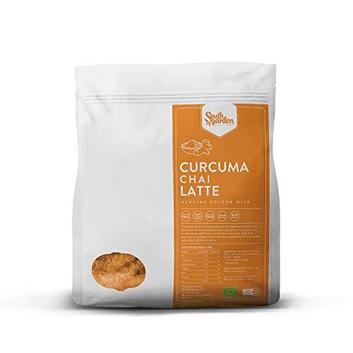 Chai Latte KurkumaBIO en Poudre 500 g | SOUTH GARDEN | Soluble | Végétalien | Sans gluten | Anti-inflammatoire 1 | Prix : Golden Milk Premium et Nature Foods Golden Awards 2017