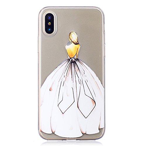 COZY HUT iPhone X/iPhone XS Handyhülle, Kratzfeste Plating TPU Silicone Case Schutzhülle Ultra Dünn Tasche für mit iPhone X/iPhone XS Hülle Case Transparent - Aschenputtel