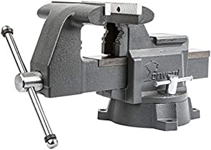 Forward 8-Inch bench vise Heavy Duty Work Vise with 270 Degrees Swivel Base