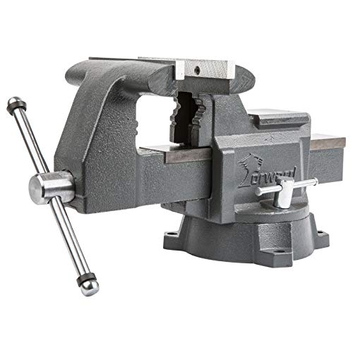 Forward 4.5-Inch bench vise Heavy Duty Work Vise with 270 Degrees Swivel Base
