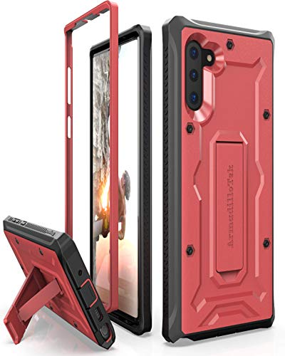 ArmadilloTek Vanguard Designed for Samsung Galaxy Note 10 / Note 10 5G Case (2019 Release) Military Grade Full-Body Rugged with Kickstand Without Built-in Screen Protector - Red