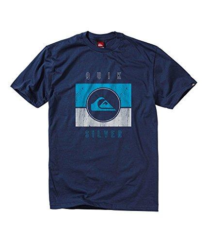 Quiksilver Men's Sanction Graphic T-Shirt Small Navy