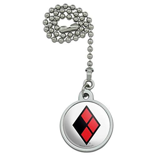 Harley Quinn Logo Ceiling Fan and Light Pull Chain