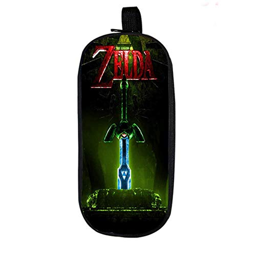 Twhoixi The Legend of Zelda Estuche para lápices Enlace Estudiantes Niños Niñas Papelería Escolar Almacenamiento Nuevo Bolígrafo para niños Bolsa de Regalo