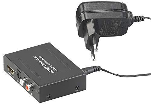 auvisio HDMI Audio Splitter: HDMI-Audio-Konverter zu TOSLINK (optisch, 5.1) und Stereo-Cinch (2.0) (HDMI Audio Extractor)