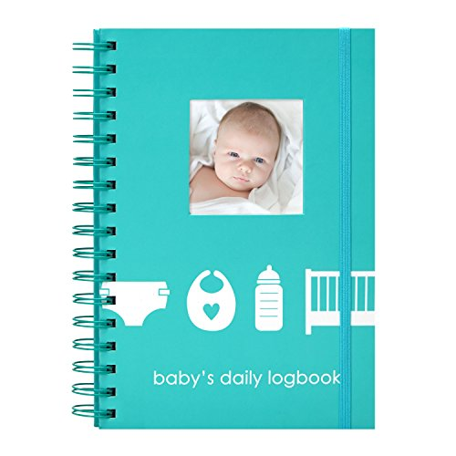 Pearhead Baby's Daily Log Book, 50 Easy to Fill Pages to Track and Monitor Your Newborn Baby's Schedule