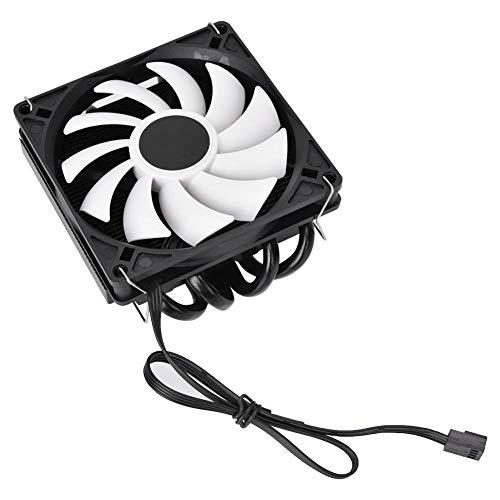 Radiador de CPU IS40x, silencioso, ultrafino, ID-COOLING AM4, ventilador de radiador de refrigeración de CPU, disipador de calor HTPC multiplataforma, 4 tuberías de calor, presión descendente ITX