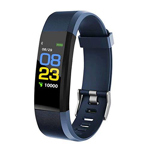 KawKaw Activity Fitness Tracker mit hochauflösendem OLED-Display, leichte und wasserdichte Fitnessuhr für Damen und Herren, mit Fitnesstracker, inkl. Blutdruckmessung (Blau)