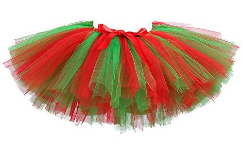 Tutu Dreams Adult Christmas Tutu for Women Elf Costume Red Green Tutu Skirts Adult Xmas Christmas Decorations Gifts