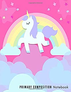 Primary Composition Notebook: Cute Caticorn Primary Story Journal for Girls (116 Pages size: 8.5