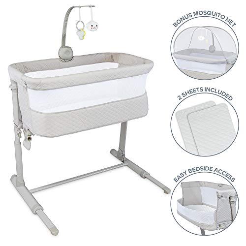 41wOvkZVCaL - Baby Bassinet RONBEI Bedside Sleeper Adjustable Portable Bed