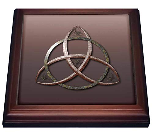 3dRose A stone textured triquetra Celtic trinity knot symbol. - Trivets (trv_333408_1)