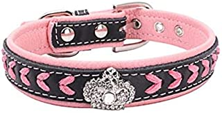 DORLIONA Collars for Dogs Pet Supplies Pet Cat Collars Dog Accessories for Puppy Dogs Collar : Pink, L