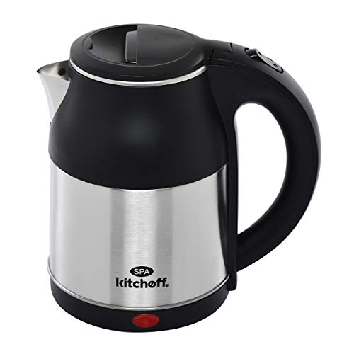 Kitchoff Automatic Stainless Steel Electric Kettle Heavy Body Extra Large Cattle With Handle for Home & Office (SPA, 1.8 L)
