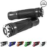 Universal Motorrad/Roller Lenkergriffe Griffgummis 22/24-25mm (Xtreme) (Schwarz)