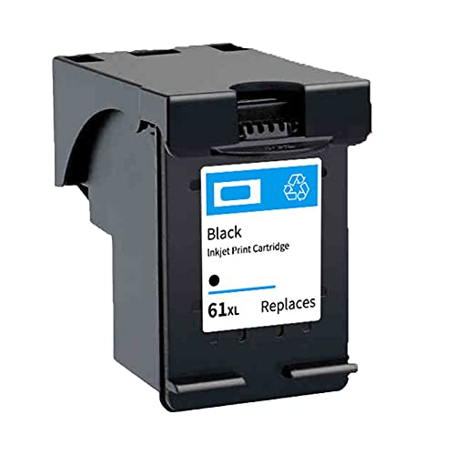 RICR Cartuchos de Tinta de reemplazo para HP 61XL, Compatible para Deskjet 1000 1010 1011 Envy 4500 4501 4502 OfficeJet 2620 2621 2622 2623 Impresora 61XL BK