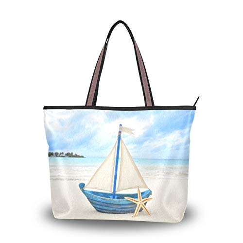 Mnsruu - Bolso de mano con cremallera para mujer, tamaño grande, bolsa...