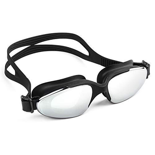 vetoky Schwimmbrille, Verspiegelte Schwimmbrillen UV Schutz kein Auslaufen für Erwachsene Herren Damen und Kinder