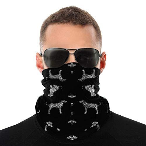 XaMiner Dalmatiens dans Le Visage Bandanas Neck Gaiter Couvre-Chefs sans Couture Headwrap Balaclavas pour la Protection Contre Le Vent de la poussière UV