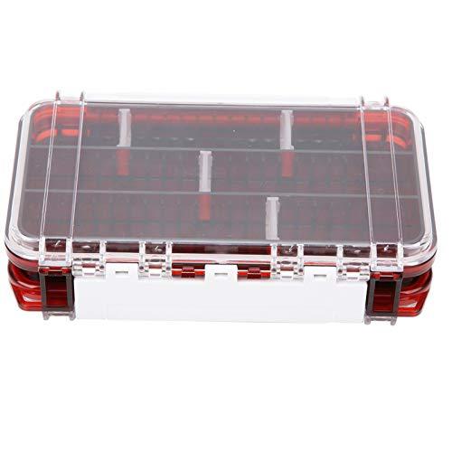 Caiqinlen Estuche de Cebo, Cajas de Aparejos de Pesca duraderas de plástico, 1 PCS de Almacenamiento para Pescar(Transparent Red)