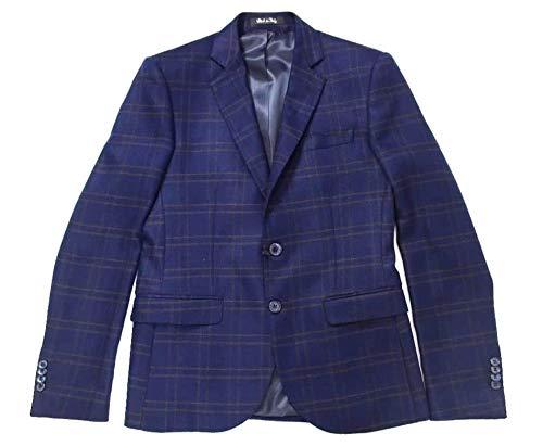 Langela Ai 2020 - Chaqueta para hombre, diseño de huerto, lana azul, talla 50, color azul