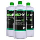 BiOHY Detersivo per pavimenti per robot di pulizia (3 bottiglie da 1l) | Concentrato per tutti i robot di pulizia e aspirazione (Bodenreiniger für Wischroboter)