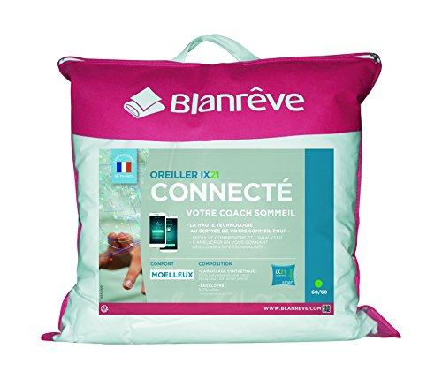 Blanrêve iX21 Oreiller Connecté, Coton, Blanc, 60x20x60 cm