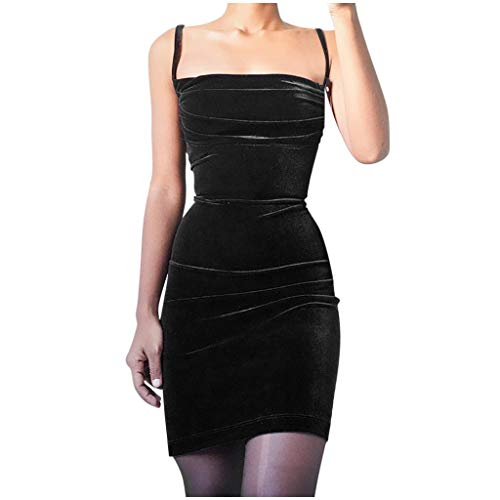 For Sale! Witspace Fashion Sexy Womens Off Shoulder Sling Solid Fold Dress Short Mini Party Dresses