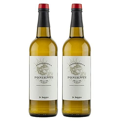 Vino Manzanilla Poniente La Arboledilla de 75 cl - D.O.Manzanilla-Sanlucar de Barrameda - Bodegas Barbadillo (Pack de 2 botellas)