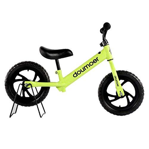 JIAMING - Bicicleta para niños, 12 pulgadas, patio, jardín, exteriores, 4 colores opcionales (color verde, tamaño: 12 pulgadas)