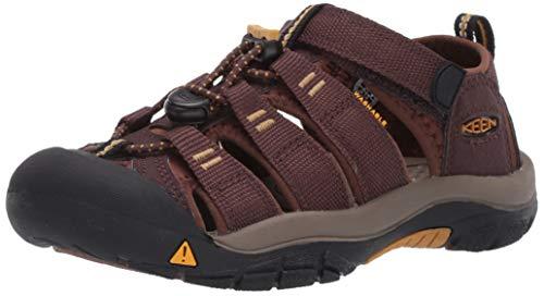 KEEN Newport H2 Closed Toe Water Shoe Sandal, Brown, 1 US Unisex Big Kid
