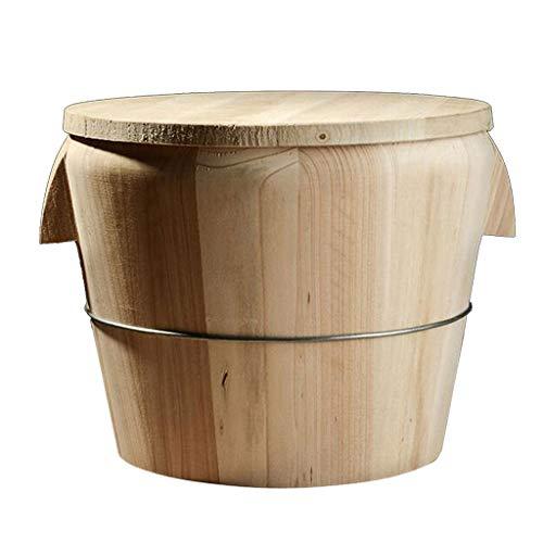 joyMerit Ciotola per Mescolare in Legno Sushi Rice Barrel Hangiri Diameter - 21 centimetri