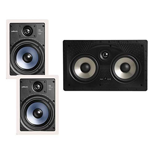 Great Price! Polk Audio RC65i 2-way 6.5-inch In-wall Speakers (Pair) with 255C-RT Center Channel In-...