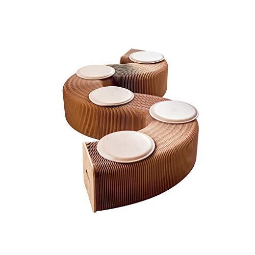 Bruin 6-zits telescopische kruk kan vorm veranderen wanneer gebruikt als een tafel (13-300)×31×42CM (13-300)×31×42CM BRON