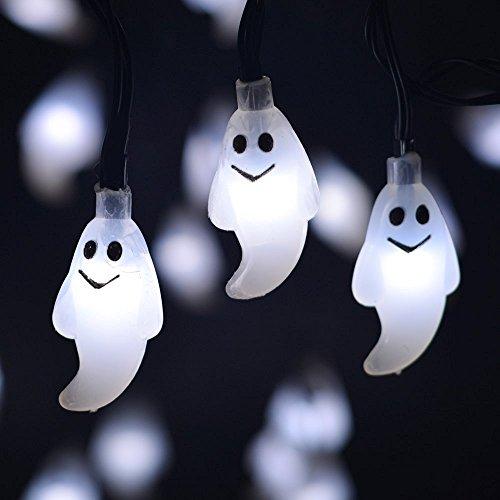 Homeself Halloween Ghost string con luce LED, 6,1m LED a energia solare luce del fantasma per Halloween Christmas Holiday party & # xFF08; bianco freddo & # XFF09;