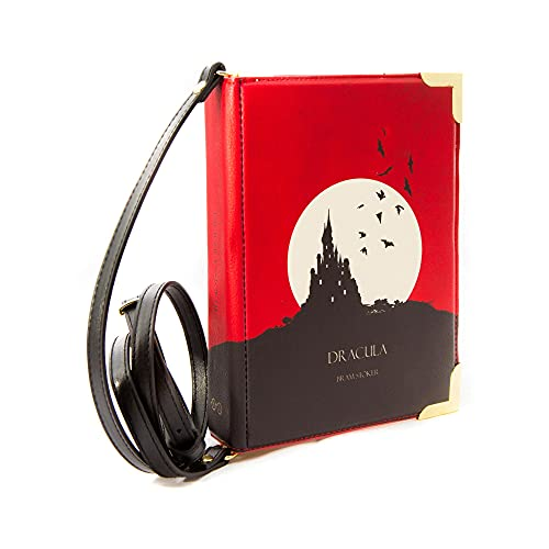 Well Read Dracula By Bram Stoker Small Book Themed Purse for Literary Lovers – Handbags for Women by Crossbody Shoulder Bag for Book Lovers