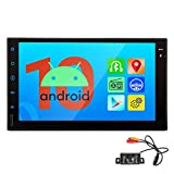 Android 10.0 Car Stereo Double Din Bluetooth Car Radio 2 din Car GPS Navigation with Backup Camera 7 Inch Touch Screen Car Video Player in-Dash Head Unit Support Mirror Link/WiFi/DVR//OBDII