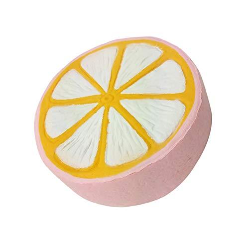 Moligin El Aumento Lento Squishie Cheeki Limón Lindo Squeeze Encantos Crema Perfumada De Kawaii Squeeze Juguetes para Niños Y Adultos (Rosa)