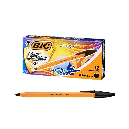 ビック 油性ボールペン オレンジ 0.7 黒 12本入 ORGF12EGBLK
