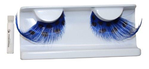 Eulenspiegel 000403 - künstliche Wimpern - Blau/Schwarz