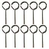 """1/8"""" Standard Hex Dogging Key with Full Loop, Allen Wrench Door Key for Push Bar Panic Exit Devices, Solid Metal - 10 Packs"""