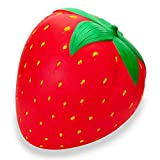 R.HORSE 10 inch Jumbo Kawaii Cute Strawberry Cream Scented Squeeze Toy Soft Kids Toys Stress Relief Toy Hop Props, Decorative Props Large (Jumbo Strawberry)