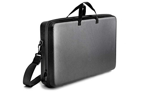 Kenley Carrying Case for Pioneer DJ DDJ-SB2 Controller - Padded Insert & Shoulder Strap - Protective Storage Travel Bag Hard Cover for Pioneer DDJSB2 Portable 2-Channel Serato DJ Mixer - Carbon Black