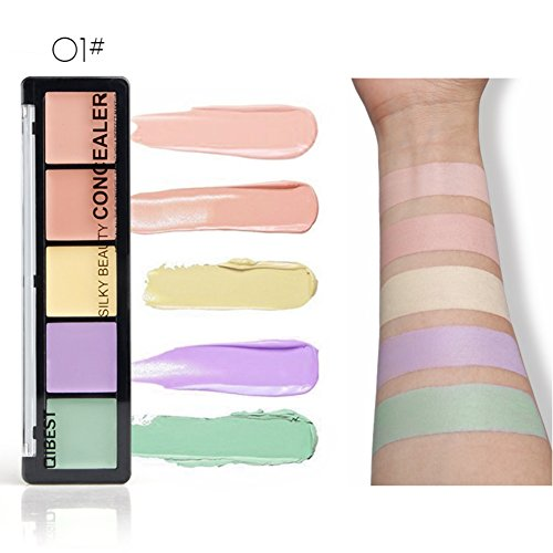 Symeas 5 Color Professional Crème Fondation et anticernes Contour Highlight Palette de maquillage