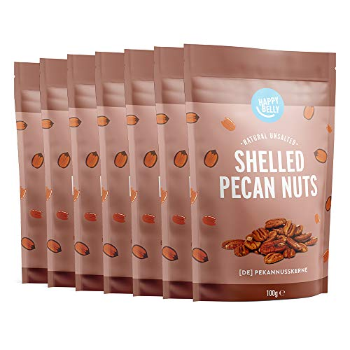 Marca Amazon - Happy Belly Nueces pecanas sin cáscara, 7 x 100g