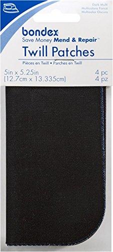 Bondex Twill Repair Patch Multipack Dark