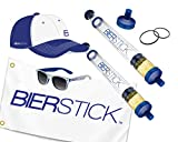 Bierstick Ultimate Package Deal – 2 x Biersticks Fahne Hut Sonnenbrille Extra Orings & Mundstück